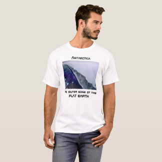 T-shirt L'Antarctique - le bord externe de la terre plate