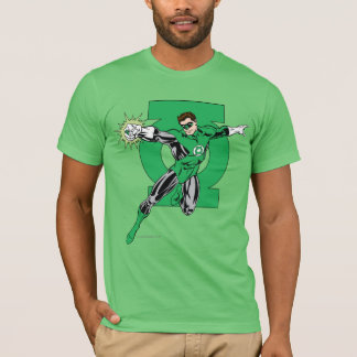 T-shirt Lanterne verte avec l'arrière - plan de logo