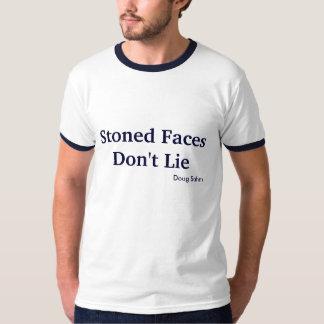 T-shirt lapidé de visages