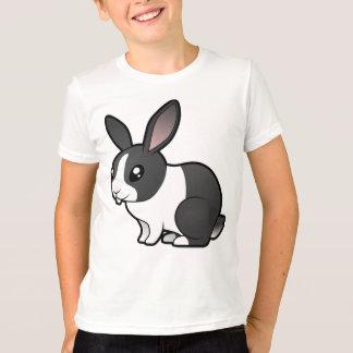T-shirt Lapin de bande dessinée (cheveux lisses d'oreille