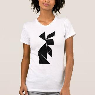 T-shirt lapin de tangram