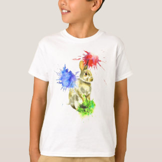 T-shirt Lapin d'éclaboussure