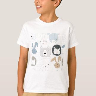 T-shirt Lapin mignon d'enfant en bas âge et de lapin