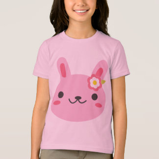 T-shirt Lapin rose de Kawaii