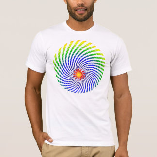 T-shirt L'arc-en-ciel étourdi un de Sun a dégrossi chemise