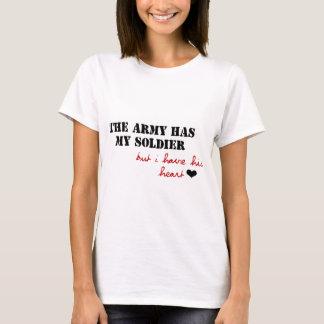 T-shirt L'armée a mon soldat, mais j'ai son coeur