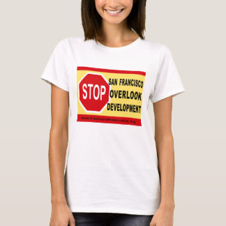 T-shirt L'ARRÊT SF donnent sur le développement