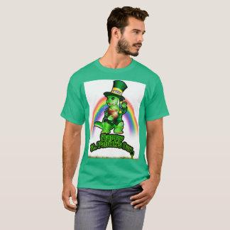 T-shirt Larry le lézard : Un lutin dans le train (blanc)