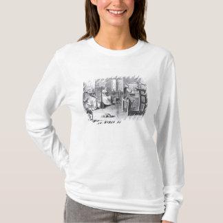 T-shirt L'art du Bas-Cadre-Travail-Tricot
