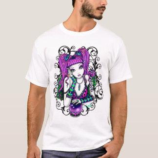 T-shirt L'art féerique d'arc-en-ciel d'Emily badine le