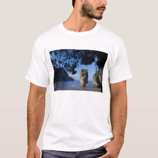 T-shirt L'Asie, Thaïlande, ao Phangnga NP, coatline, Karst