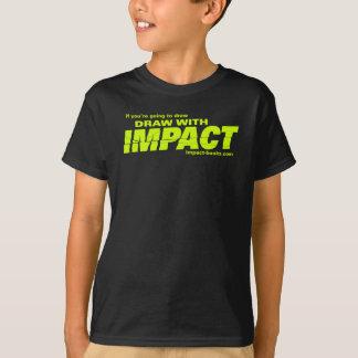 T-shirt L'aspiration avec l'impact badine T-shirt-foncé