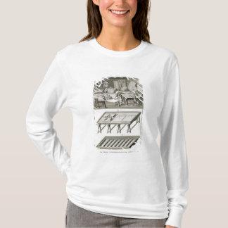T-shirt L'atelier et les outils d'un fabricant de miroir,