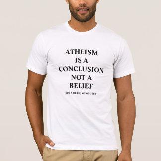 T-shirt L'athéisme est une conclusion pas une croyance
