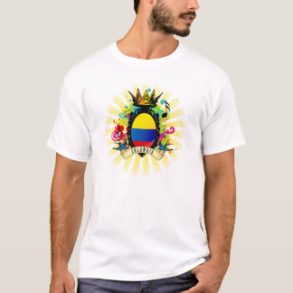 T-shirt latin de musique de la Colombie once