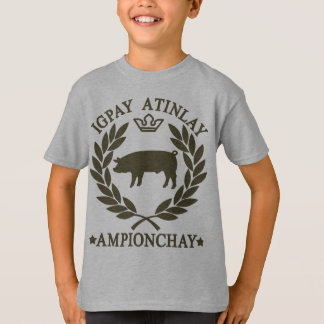 T-shirt Latin de porc