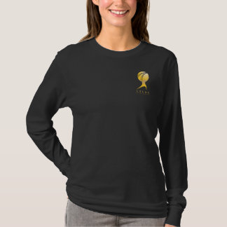 T-shirt L'ATLAS officiel A GESTICULÉ douille de dames de