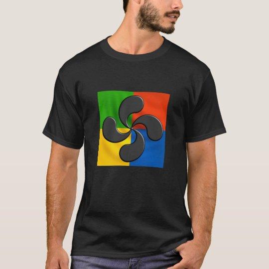 T-shirt laubur,  croix basque