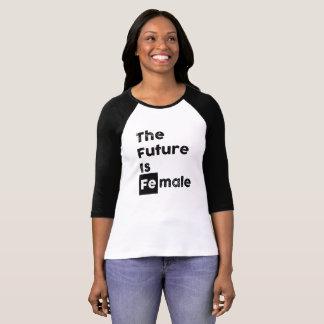 T-shirt L'avenir est pièce en t audacieuse femelle du