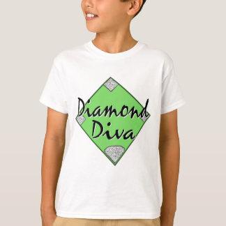 T-shirt Le base-ball de diva de diamant