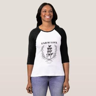 """T-shirt Le base-ball pelucheux de la """"vie de ferme"""" de"""