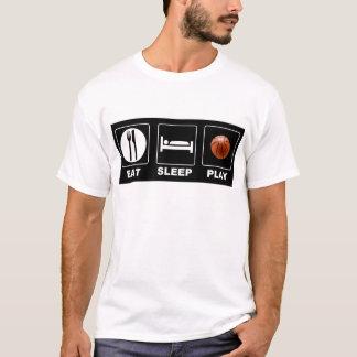 T-shirt Le basket-ball mangent le jeu de sommeil