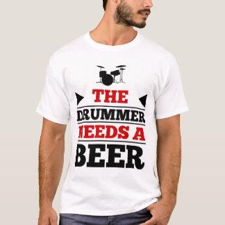 T-shirt Le batteur a besoin d'une bière