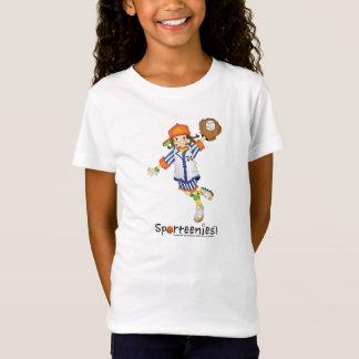 T-Shirt Le bébé de la fille de base-ball/base-ball -