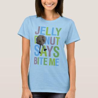 T-shirt Le beignet de gelée indique me mordent - v1
