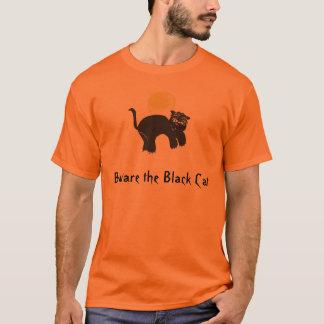 T-shirt le blackcat, prennent garde du chat noir