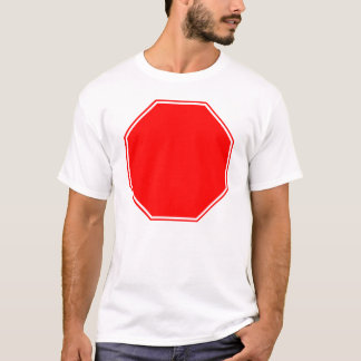 T-shirt Le blanc/arrêt personnalisable se connectent