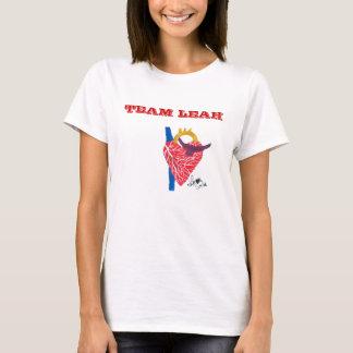 T-shirt Le blanc blanc de la femme de Leah d'équipe
