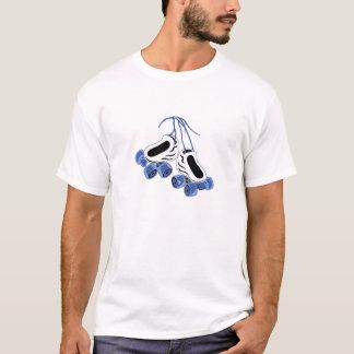 T-shirt le blanc patine les roues bleues