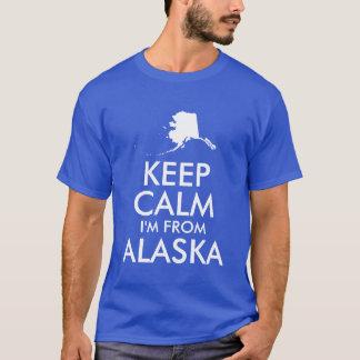 T-shirt Le bleu et le blanc gardent le calme que je suis
