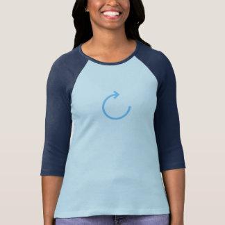 T-shirt Le bleu simple régénèrent la chemise d'icône