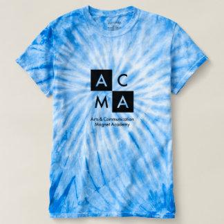 T-shirt Le bleu teignent en nouant