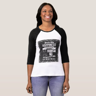 T-shirt Le bonheur achète les huiles essentielles !