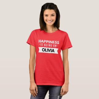 T-shirt Le bonheur est Olivia