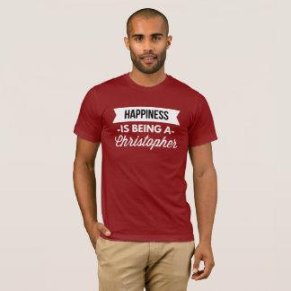 T-shirt Le bonheur est un Christopher