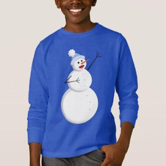 T-shirt Le bonhomme de neige chanteur heureux badine la