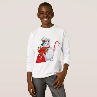 T-shirt Le bonhomme de neige de Noël badine Longsleeve