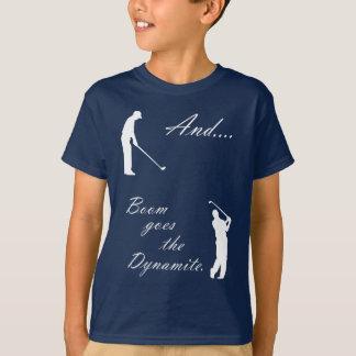 T-shirt Le boom va la dynamite de golf
