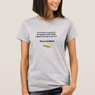 """T-shirt Le bouddhisme de lapin """"pomme de terre est pièce"""