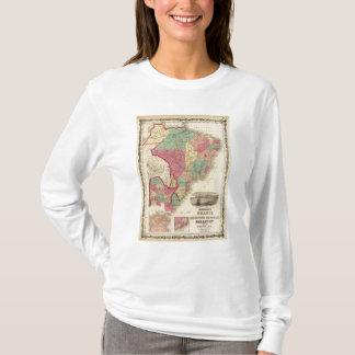 T-shirt Le Brésil, la république d'Argentine, le Paraguay,