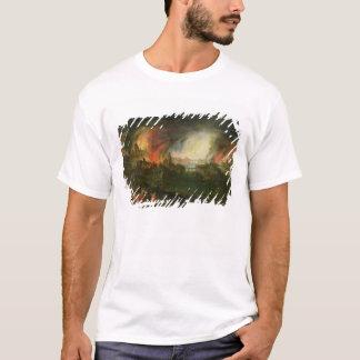 T-shirt Le Burning de Troie (huile sur le cuivre)