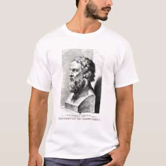 T-shirt Le buste de Platon a gravé par Lucas Emil