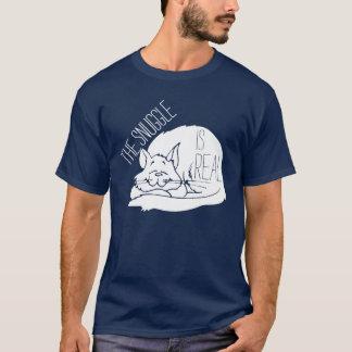 T-shirt Le câlin est vraie chemise de chat de sommeil