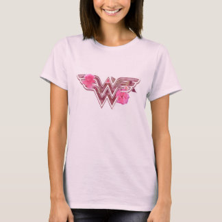 T-shirt Le camélia de rose de femme de merveille fleurit