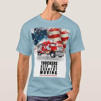 T-shirt Le camionneur gardent ce déplacement de pays