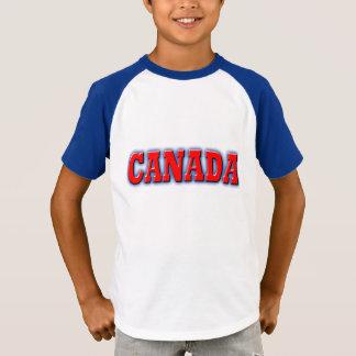 T-shirt Le Canada dans le lettrage rouge audacieux